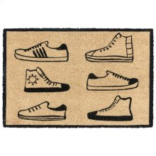 Doormat Sneaker Parade Black 24x36