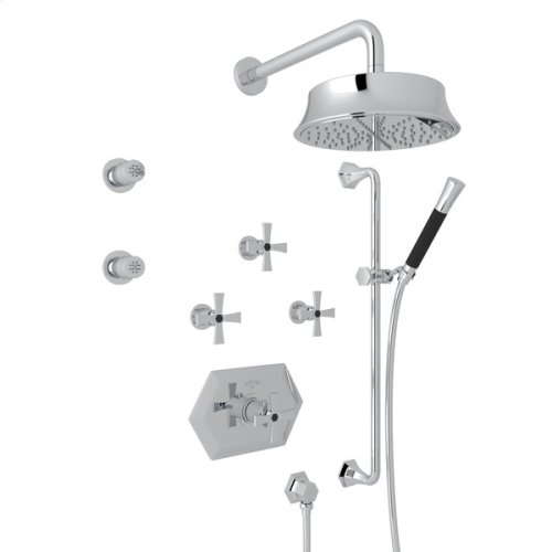 Polished Chrome Bellia Bekit370l Thermostatic Shower Package