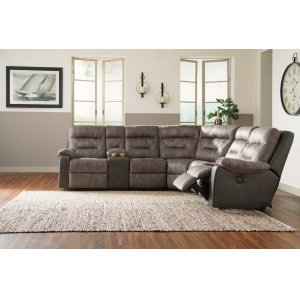 Ashley Furniture Hacklesbury - Brownstone 4 Piece Sectional