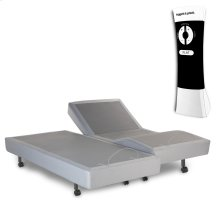 Signature Adjustable Bed Base with Ultra-Quiet Motor and Wireless Remote, Gray Finish, Split Queen