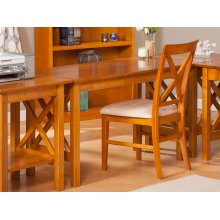 Lexi Work Table in Caramel Latte