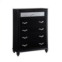 Barzini Five-drawer Chest With Metallic Drawer Front