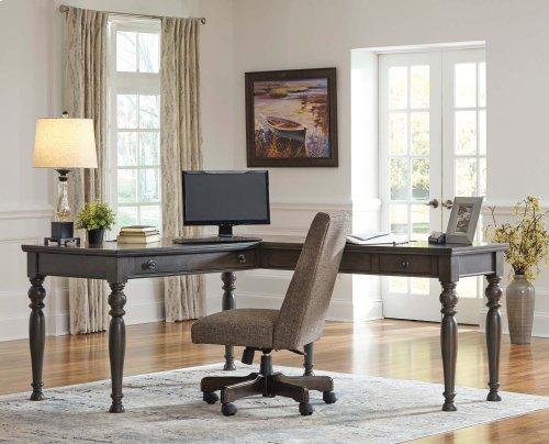 Devenstead - Dark Gray 2 Piece Home Office Set