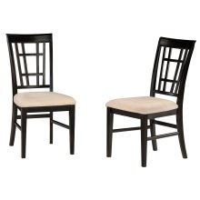 Montego Bay Dining Chairs Set of 2 with Oatmeal Cushion in Espresso