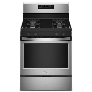 Whirlpool 5.0 Cu. Ft. Freestanding Gas Range With Adjustable Self-Cleaning Stainless Steel