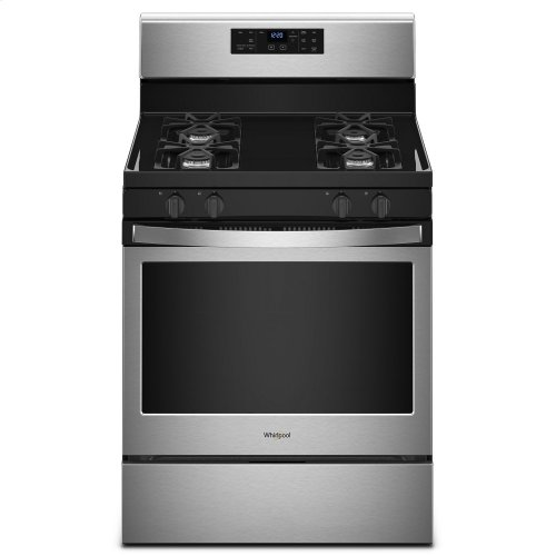 5.0 cu. ft. Freestanding Gas Range with Adjustable Self-Cleaning Stainless Steel