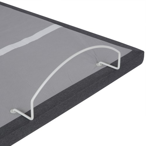 Simplicity 3.0 Low-Profile Adjustable Bed Base with Full Body Massage and Simultaneous Movement, Charcoal Gray Finish, Split California King