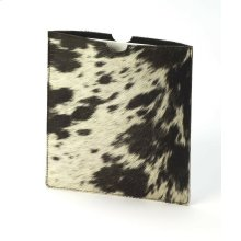 A simple leather case for your Tablet or ipad will protect against scratching and dust in a very fashionable way! The natural hair on hide leather has a beautiful color and texture, and interior is soft and flexible! The spotted design will be unique for