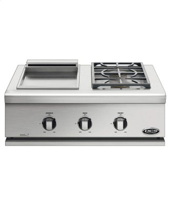 "30"" Series 7 Double Side Burner/ Griddle, Natural Gas"