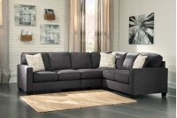 Alenya 3-Piece LAF Loveseat Sectional w/ RAF Sofa (Charcoal) Product Image