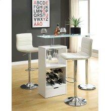 Contemporary White Bar Table