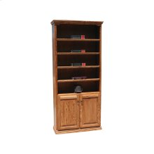 "Traditional Alder 24"" & 36"" 2-Door Bookcase"