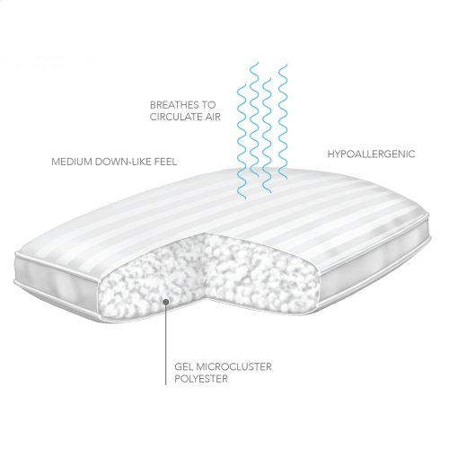 Sleep Plush + GelSoft Medium Density Fiber Pillow, King