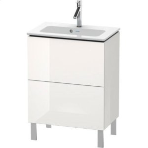 Vanity Unit Floorstanding Compact, White High Gloss Lacquer