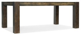 Dining Room Crafted Rectangle Dining Table w/2-18in leaves
