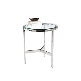 Flato End Table - Silver