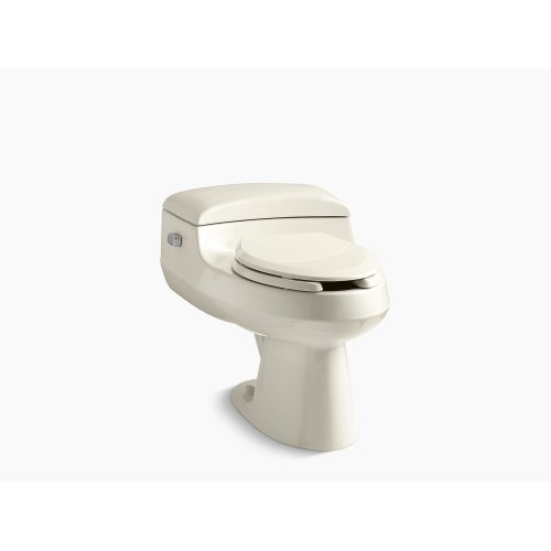 Almond Comfort Height One-piece Elongated 1.0 Gpf Toilet With Pressure Lite Flushing Technology, Includes Seat
