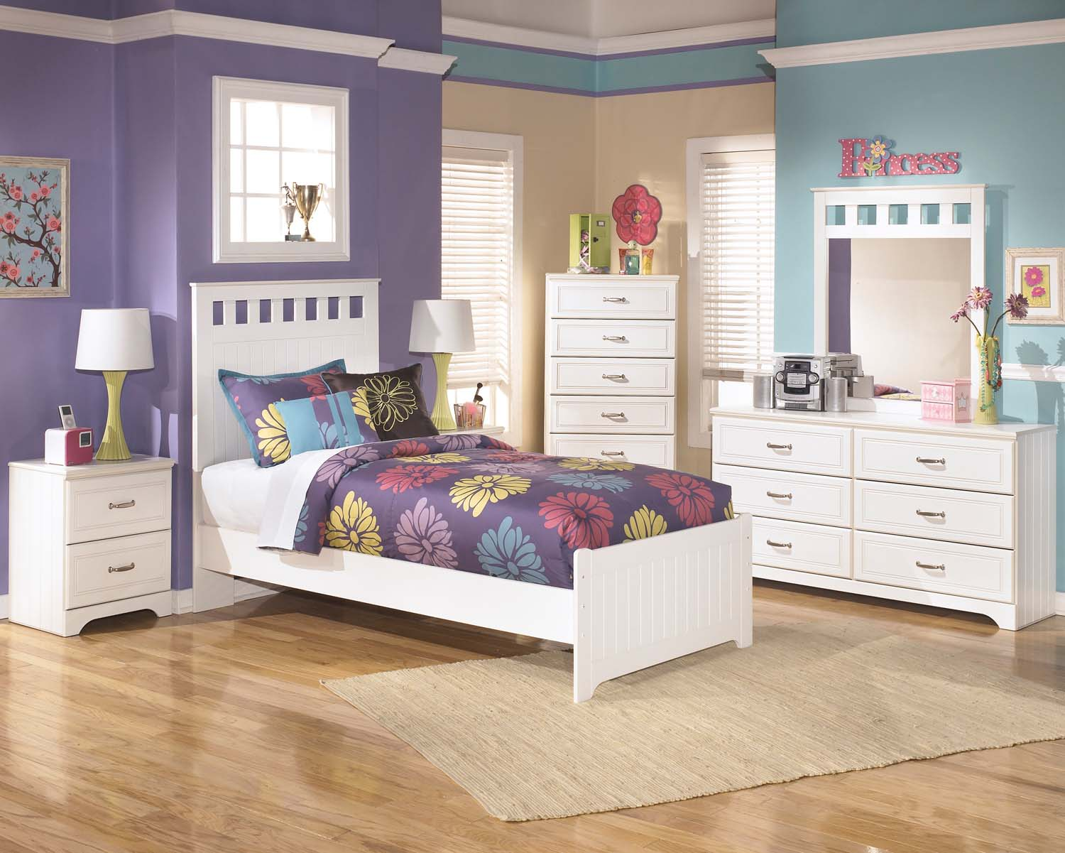Superbe Lulu   White 3 Piece Bed Set (Twin)