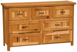 Simply Hickory Seven Drawer Dresser - Traditional Hickory - Value Line