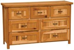 Simply Hickory Seven Drawer Dresser - Traditional Hickory - Premium Line