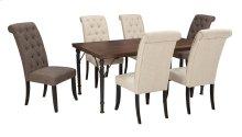 Tripton - Medium Brown 7 Piece Dining Room Set