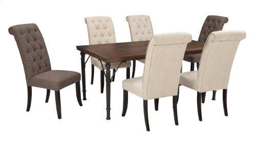 Tripton - Medium Brown 5 Piece Dining Room Set
