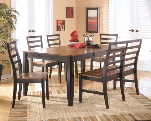 Alonzo - Two-tone Brown Dining Table and 6 Chairs
