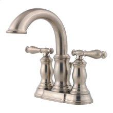 "Brushed Nickel 2-Handle 4"" Centerset Bathroom Faucet"