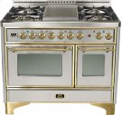 """Stainless 40"""" Griddle Top Majestic Techno Dual Fuel Range Product Image"""