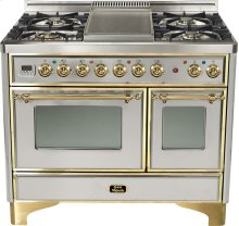 """Stainless 40"""" Griddle Top Majestic Techno Dual Fuel Range"""
