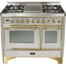 "Stainless 40"" Griddle Top Majestic Techno Dual Fuel Range"