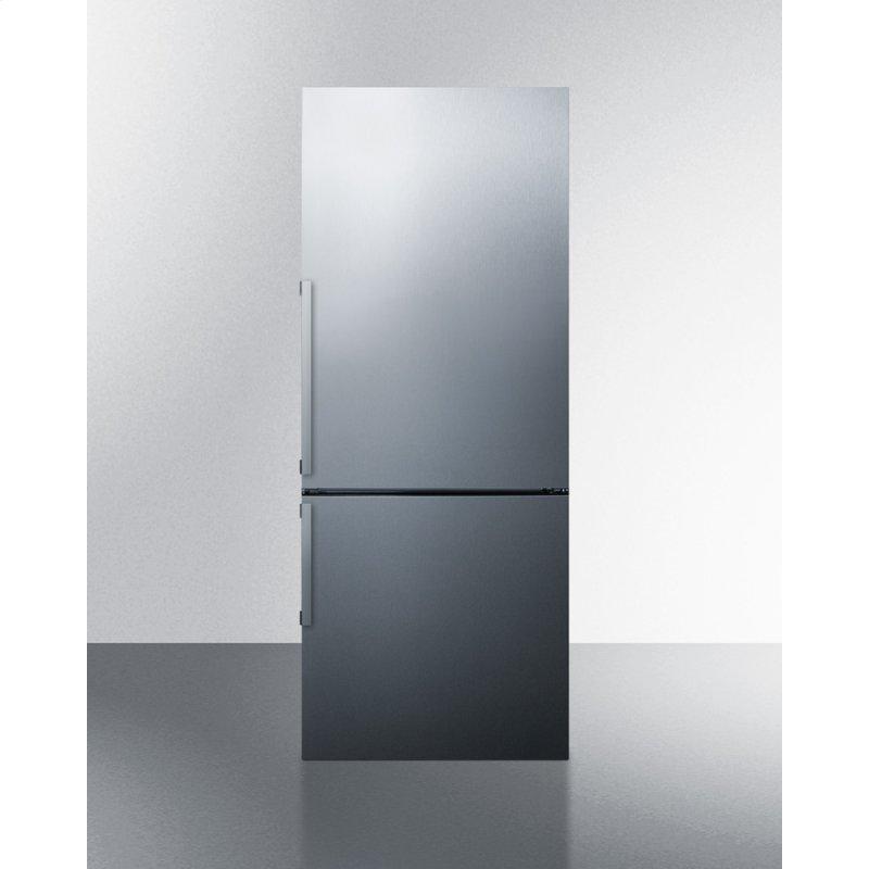 "28"" Wide Bottom Freezer Refrigerator With Icemaker"
