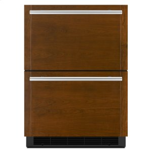"JennairPanel-Ready 24"" Double-Refrigerator Drawers Panel Ready"