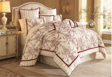 9 pc Queen Comforter set Natural