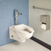 Afwall Millenium FloWise Elongated Toilet - White
