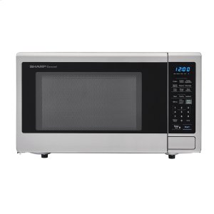1.4 cu. ft. 1000W Sharp Stainless Steel Carousel Countertop Microwave Oven -