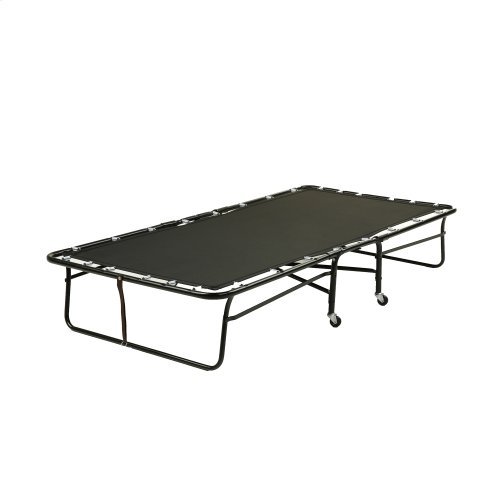"""Rollaway 425P/75 Folding Poly Deck Bed with 39"""" Foam Mattress and Steel Tube Frame, 39"""" x 75"""""""