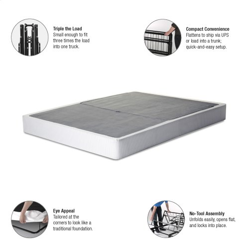 Simple Life Compact Folding Mattress Foundation with No-Tool Assembly, Queen