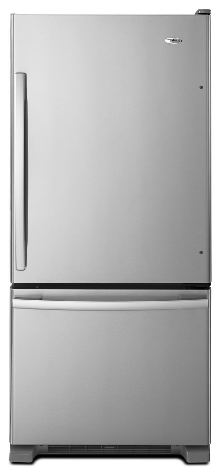 Amana29-Inch Wide Bottom-Freezer Refrigerator With Easyfreezer Pull-Out Drawer -- 18 Cu. Ft. Capacity Stainless Steel