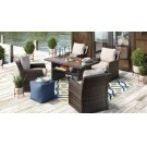 Salceda - Beige/Brown 5 Piece Patio Set Product Image