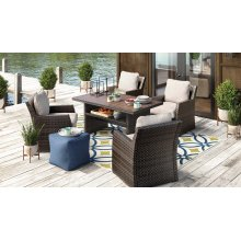 Salceda - Beige/Brown 5 Piece Patio Set