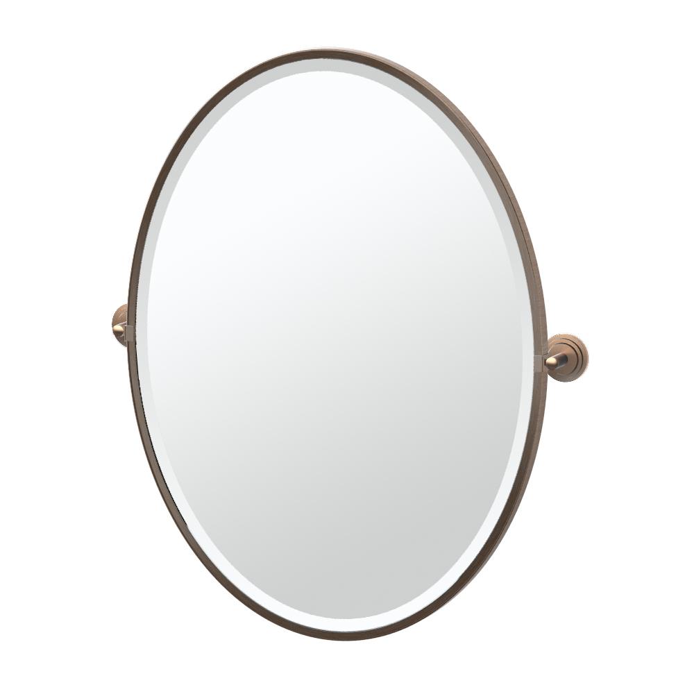 Marina Framed Oval Mirror in Bronze