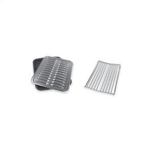 Premium Broil Pan & Roasting Rack -