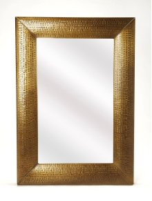 Hammered gold frame brings a touch of shimmering appeal to your ensemble, blending an industrial design with contemporary style, this mirror is perfect to bring dimension to your entry, hall or living area.