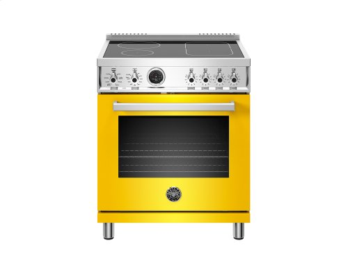 30 inch Induction Range, 4 Heating Zones, Electric Self-Clean Oven Yellow