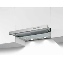 24 Telescopic extension hood,1 motor 300 CFM Stainless Steel