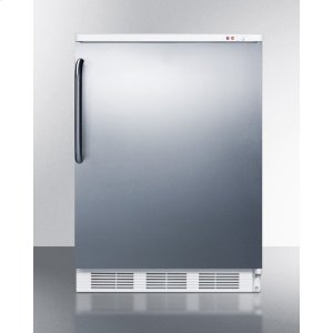 SummitCommercial Freestanding Medical All-freezer Capable of -25 C Operation, With Stainless Steel Door and Towel Bar Handle
