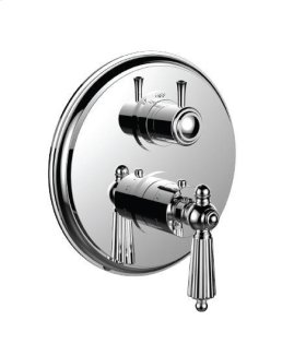 "1/2"" Thermostatic Trim With 3-way Diverter Trim (shared Function) in Brigh Victorian Bronzet"