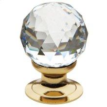 Polished Brass Swarovski Crystal Cabinet Knob