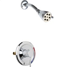 Pressure balancing tub and shower system with shower head, hand spray, and diverter tub spout options